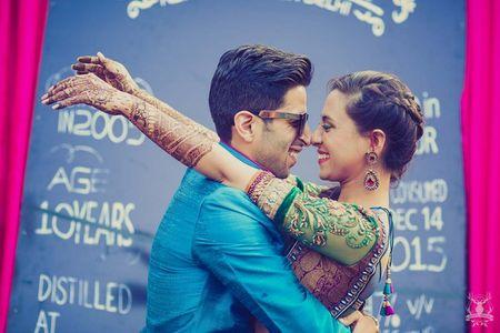 Super Glam Delhi Wedding With a Cheeky Bride!