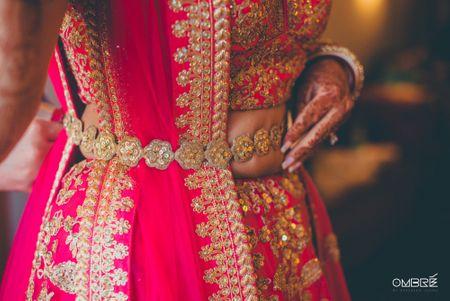 #Trending: Zardosi Belts On Bridal Lehengas