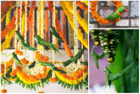 #Trending: Parrot Motifs At Weddings!