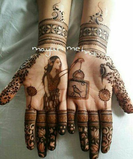 #Trending: Half and Half Mehendi Designs Which Look So Cute!