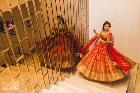 Red Carpet Bride at Zoya Jewels: Contemporary in Crimson