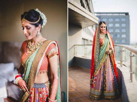 "Vibrant Wedding With a ""Gypsy Bride"" Lehenga!"
