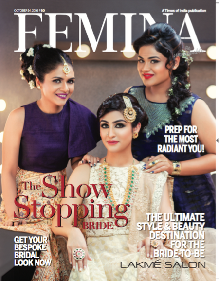How One Bride Landed A Once-In-A-Lifetime Chance To Be Styled By Lakme Salons, On The Cover Of Femina