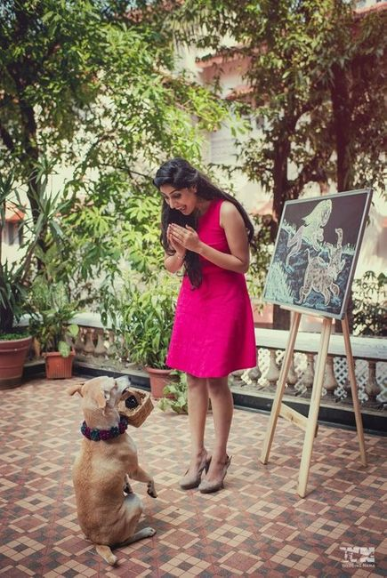 A Girl, A Boy And Lots Of Cute Doggies. This Save-The-Date Is Super Dreamy And Cute AF!