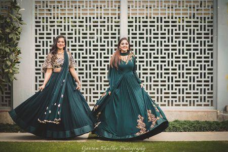 WMG Bride & Bestie Part 2 : Reception Ready In Jewel Tones By Ridhi Mehra
