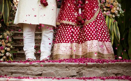 Pretty Neemrana Wedding With A Stunning Rustic Mandap !