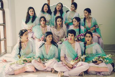 Co-ordinated Wedding in Jaipur With A Ton Of Fun Bridesmaid Shots