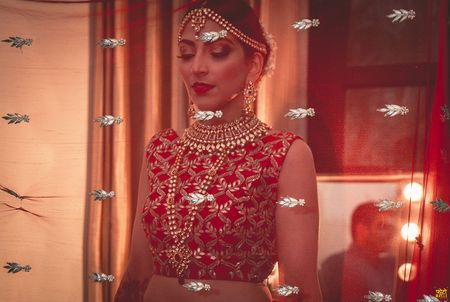 Glamorous Delhi Wedding For A Blogger Bride in Red!