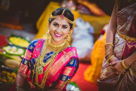 Pretty Manipal Wedding With A Bride In Gorgeous Kanjeevarams!