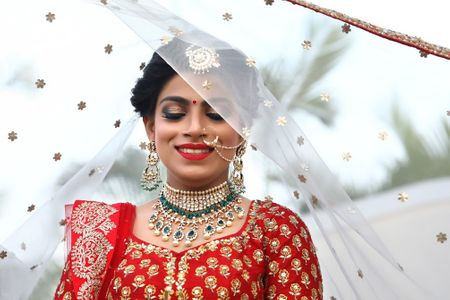This Bride Wore A Mehendi Lehenga Made Of Real Flowers + A Bridal one With Seven Vows !