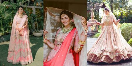 From Light to Bright: Peach Lehengas Worn by Real Brides We Are in Love With!