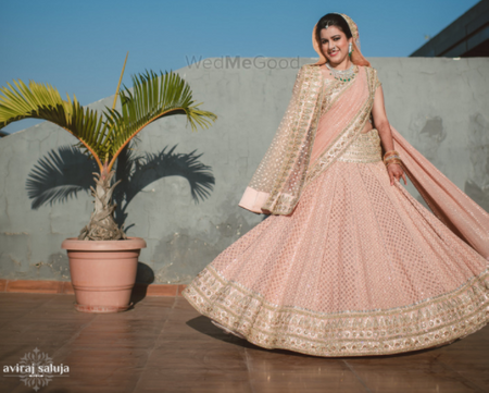 From Light to Bright: 12 Peach Lehengas Worn by Real Brides We Are in Love With!