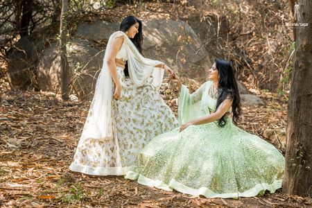 WMG Red Carpet Bride: A Bride & Her Maid Of Honour In Summery Hues