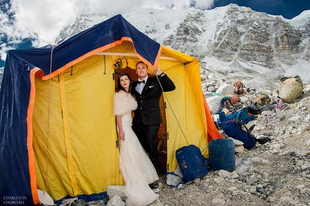 WHOA! This Couple Got Married on the Most Epic Wedding Venue- Mt Everest!