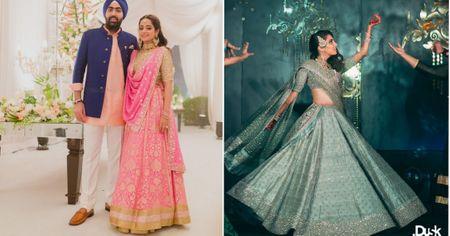 8 Unique Sangeet Lehengas Worn By Our Favourite Delhi Brides!
