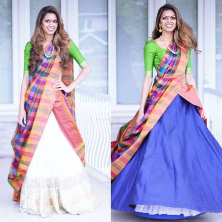 What's The Cancan Saree Drape?This Cool New Way To Wear Your Kanjeevarams Is Totally DOPE!
