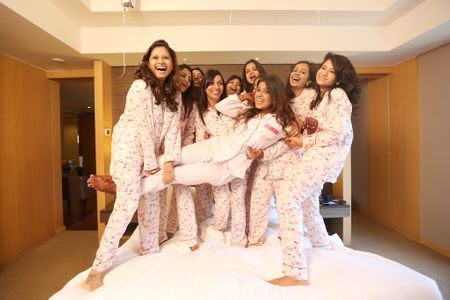 This Bride Had a Pyjama Party Pre-Wedding Shoot With Her BFFs & It Looks Like So Much Fun!
