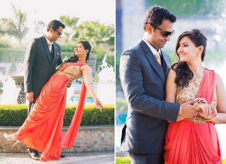 8 Brides Who Didn't Wear Lehengas For Their Engagement