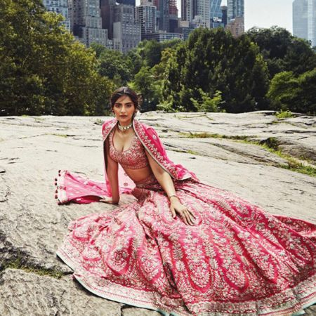 Sonam Kapoor Turns Bride for Anita Dongre in NYC and the Photos are Beyond Gorgeous!