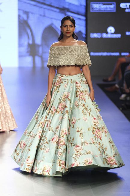 The Most Unique Lehenga Silhouettes We Spotted in Lakme Fashion Week 2017!