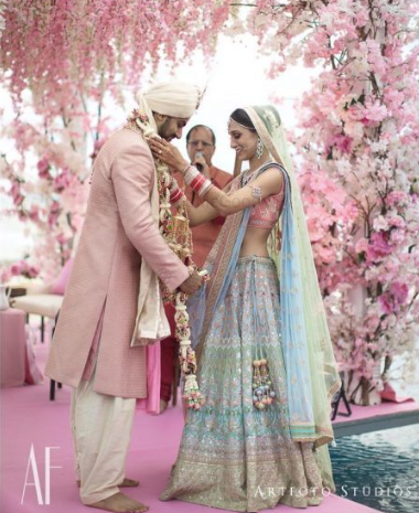 #Trending: Bridal Lehengas in Refreshing Shades of Light Blue And How To Wear Them!