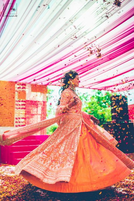Ultra Colorful Wedding With A Monsoon Themed Mehendi!