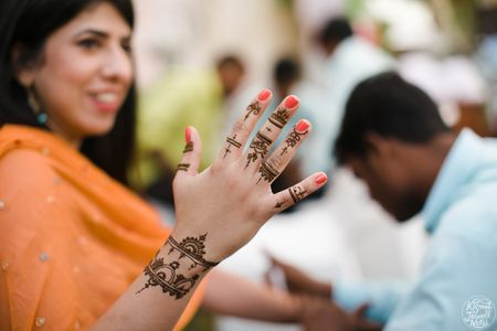 The Coolest New Trend for Bridesmaids- Finger Ring Mehendi!