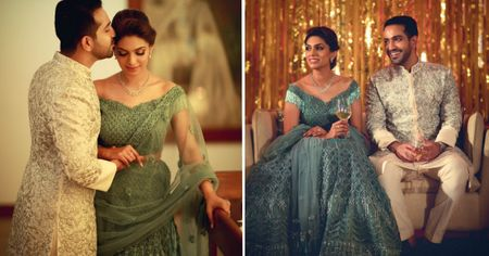 Elegant Evening Engagement With A Bride In Teal