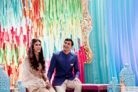 This Moroccan-Themed Sangeet Night With A Uniquely Styled Bride Is #Goals!