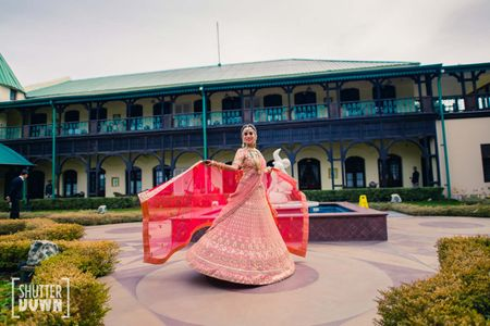 Colourful Wedding In The Hills With A Picturesque Mandap!
