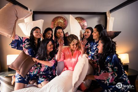 This Bride Had An Adorable Pre-Wedding Getting Ready Shoot with her Bridesmaids!