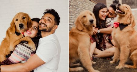 A Pre Wedding Shoot With Doggies That's Totally Adorable!