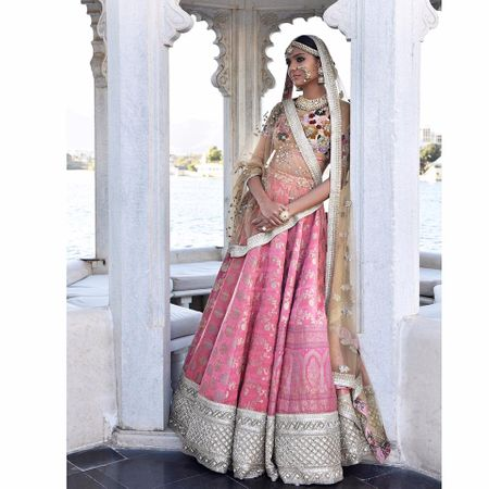 This New Triangle Dupatta Drape By Sabya Is What Every Bride Is Wearing !