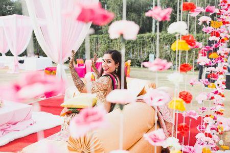 Colorful & Simple Delhi Wedding With A Bride In Saffron