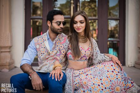 New Way To Co-ordinate With Your Groom: Twin In Prints!