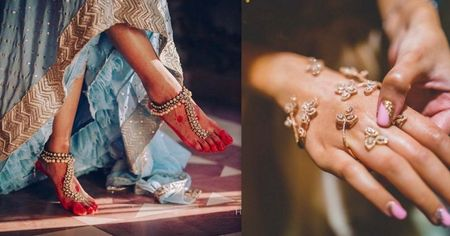 The Most Gorgeous Hand & Feet Jewellery We Spotted on Real Brides!