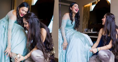 Behind The Scenes: One Bride & Bridesmaids Adorable Getting Ready Session