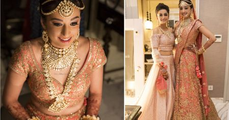 Glam Jaipur Wedding With A Peachy Pink Bride!