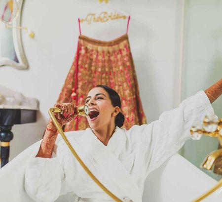 The Best Pictures Of Brides Chilling At Their Wedding! #BridalSwag