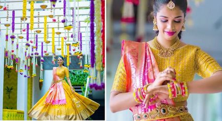 Pretty Hyderabad Wedding With Gorgeous Kanjeevarams & Delish Lehengas!