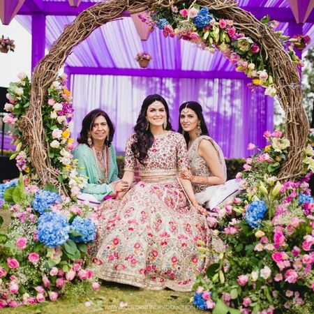 8 Fresh New Mehendi Seating Ideas For Your 2018 Summer Wedding!