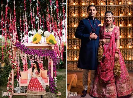 Modern Delhi Wedding With A Stunning Mehendi & A Gorgeous Benarasi Lehenga!