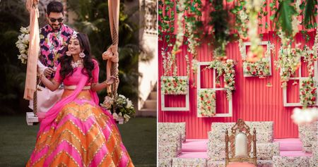 Chic Delhi Wedding With The Most Beautiful Candy Colored Mehendi !