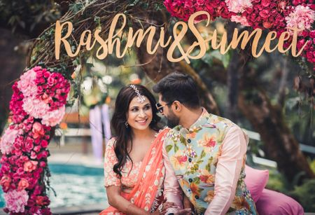 How One Bride & Groom Found & Coordinated Their Mehendi Looks ...