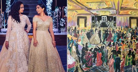 #Trending: This Bride Got An Artist To Make A Live Painting Of Her Reception!