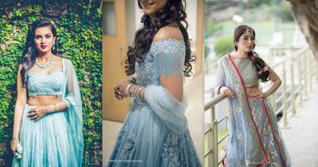 11 Real Brides That Won Our Hearts With Their Powder Blue Lehengas!