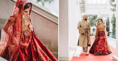 Simple Delhi Wedding With A Bride In Burnt Sienna!