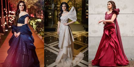The Best Gaurav Gupta Cocktail Outfits We Spotted On Real Brides!