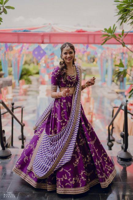 Gorgeous Chennai Bride In Beautiful Purple Alongside Dreamy Decor!