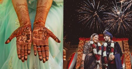 This Bride Got Burger & Fries Made In Her Bridal Mehendi, & We Found Out Why!